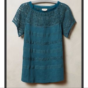 ANTHROPOLOGY  MEADOW RUE LACE TOP